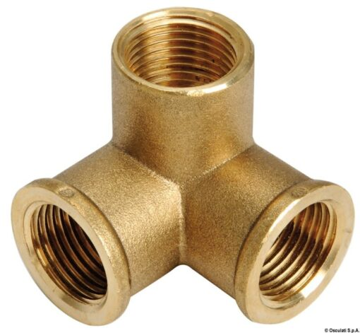 """Brass 3-way joint 3/4"""" 3"""