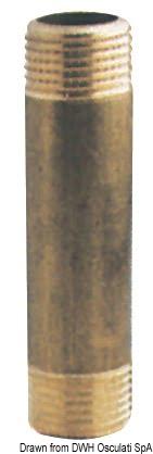 "Brass extension sleeve 1""1/4 x 150 mm 3"