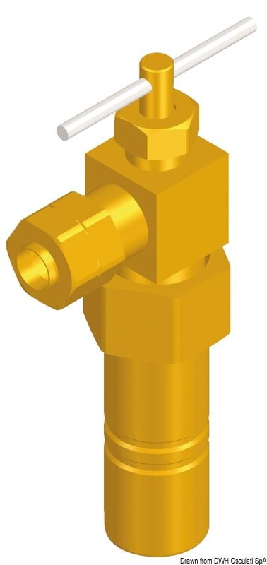 Whale valve joint, brass 3