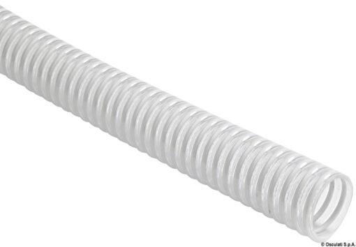 White PVC spiral reinforced hose 22 mm 3