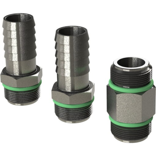"Marco Spare Part R6400101 - R-KIT hosefittings + nipple 3/8"" s/steel BSP (VITON 2056 O-Ring, hose ø13 mm) 3"