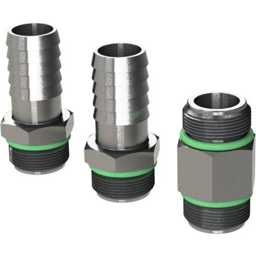 "Marco Spare Part R6400108 - R-KIT brass hosefittings + nipple 3/8"" BSP (VITON 2056 O-Ring, hose ø13 mm) 3"