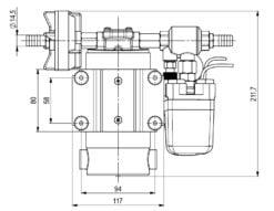 Marco DP12 Deck washing pump kit 5 bar - 72.5 psi (24 Volt) 8