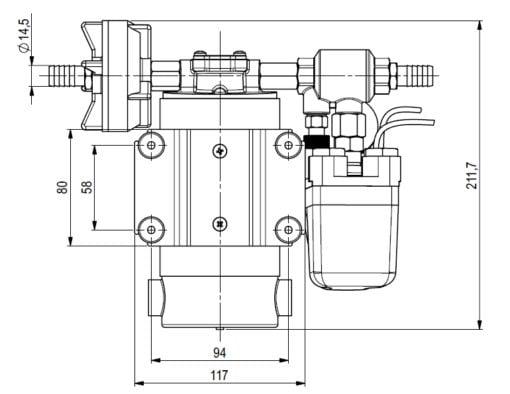 Marco DP12 Deck washing pump kit 5 bar - 72.5 psi (24 Volt) 4