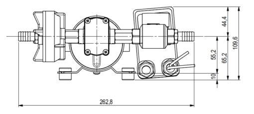Marco DP12 Deck washing pump kit 5 bar - 72.5 psi (24 Volt) 6