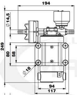 Marco DP12/E Deck washing pump + electronic control 5 bar - 72.5 psi 10
