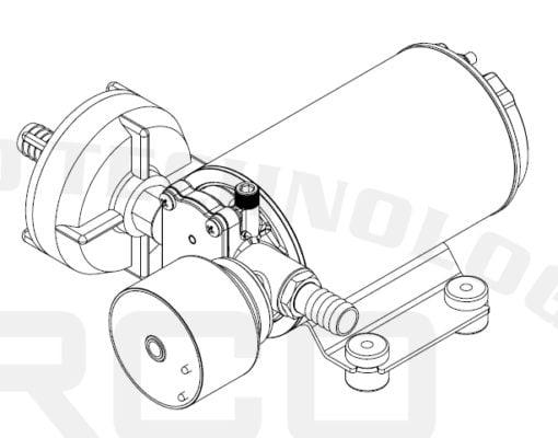 Marco DP9/E Deck washing pump + electronic control 4 bar - 58 psi 6