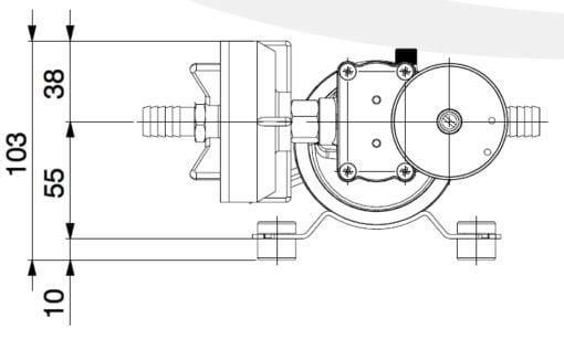 Marco DP9/E Deck washing pump + electronic control 4 bar - 58 psi 5