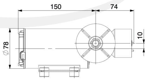 Marco DP9/E Deck washing pump + electronic control 4 bar - 58 psi 4