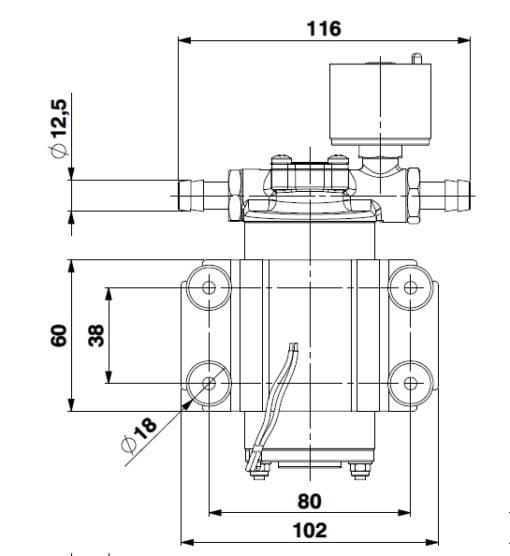 Marco SP2 SP2 Shower pump kit 2 bar 7