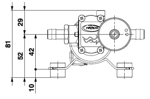 Marco SP2 SP2 Shower pump kit 2 bar 4