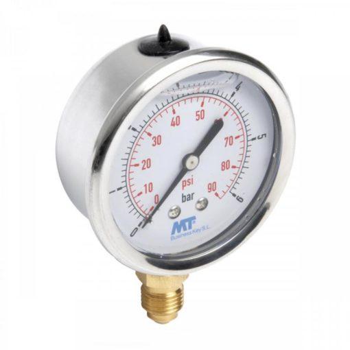 Pressure Gauge63mm Glycerine Filled Radial connection 2,5-4-6-10-16-25-60-100  bar 1