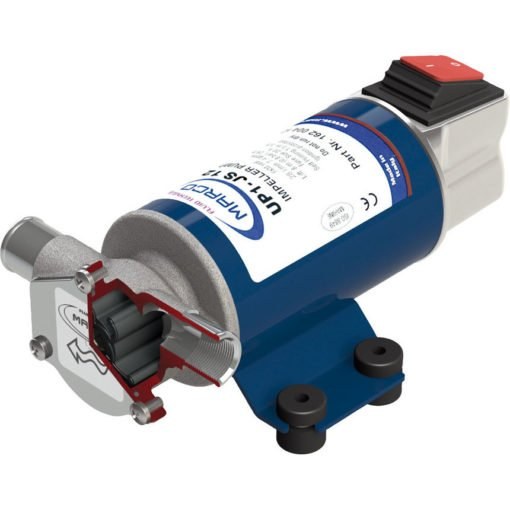 Marco UP1-JS Impeller pump 7.4 gpm - 28 l/min with integrated on/off switch (12 Volt) 3