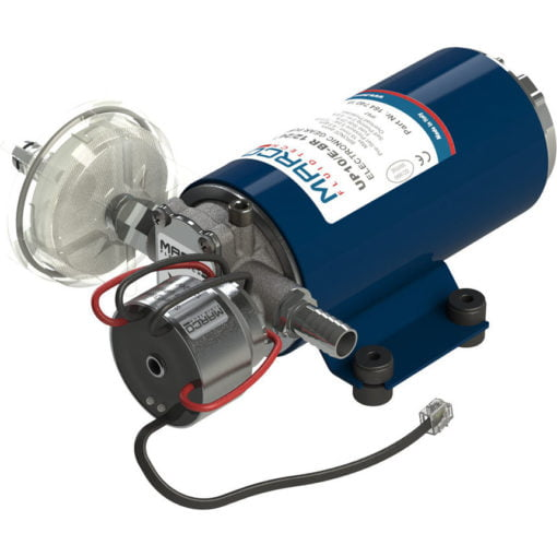 Marco UP10/E-BR 12/24V bronze gear pump with electronic pressure sensor 4.8 gpm - 18 l/min 3