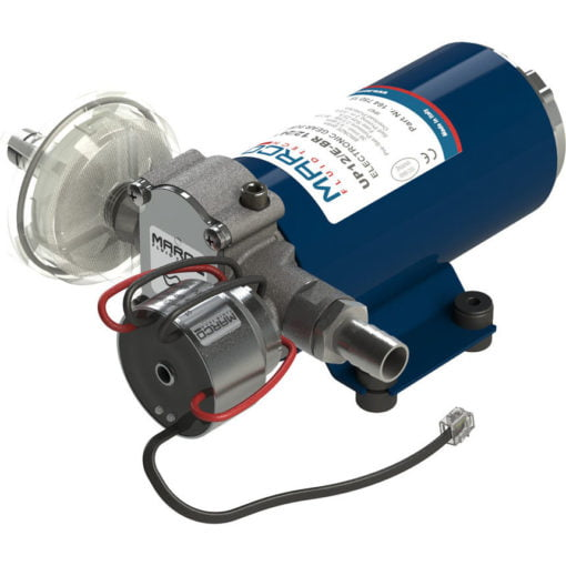 Marco UP12/E-BR 12/24V bronze gear pump with electronic pressure sensor 9.5 gpm - 36 l/min 3