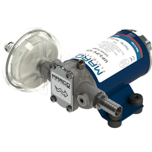 Marco UP3-PV PTFE Gear pump with check valve 4 gpm - 15 l/min (12 Volt) 3