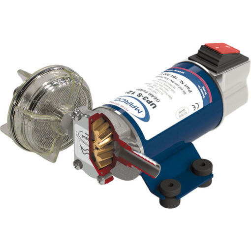 Marco UP3-S Gear pump 4 gpm - 15 l/min with integrated on/off switch (12 Volt) 3