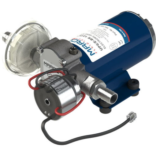 Marco UP6/E-BR 12/24V bronze gear pump with electronic pressure sensor 6.9 gpm - 26 l/min 3