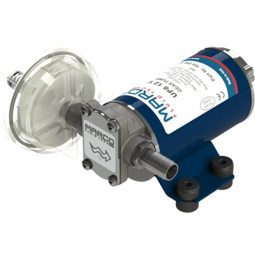 Marco UP8 Heavy duty pump with bronze gears 2.6 gpm - 10 l/min (24 Volt) 3