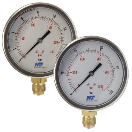 Pressure Gauge100 mm Glycerine Filled Radial connection 6-16-40-100  bar 1
